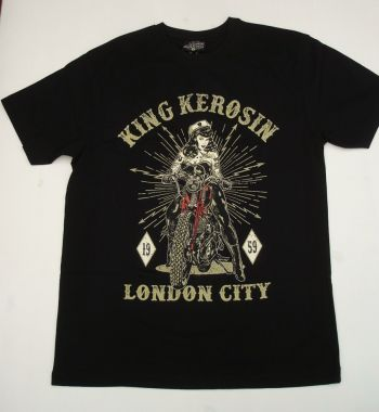 King Kerosin Regular T-Shirt / London City - black