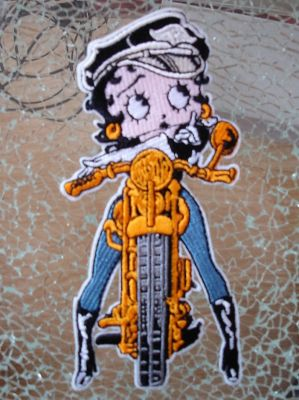 Patch - Betty Boop / Orange Motorcycle