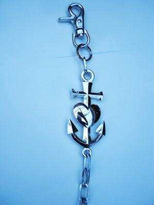Geldbeutelkette - Liebe, Glaube, Hoffnung / Herz, Kreuz, Anker