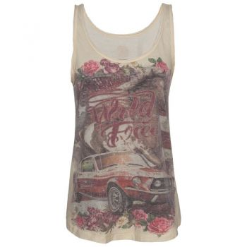 Tank Top von QUEEN KEROSIN - Mustang / Sand White