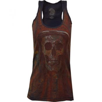 Longtop von Queen Kerosin - Soul Skull / Navy