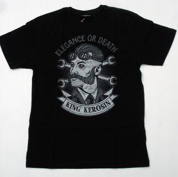 Vintage T-Shirt - Elegance or Death / black
