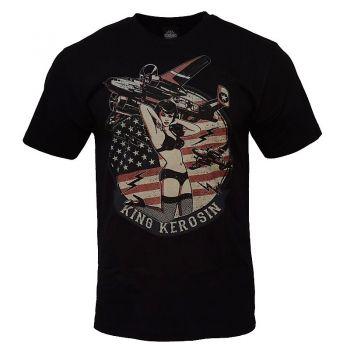 King Kerosin Regular T-Shirt / Flying Fortress - black