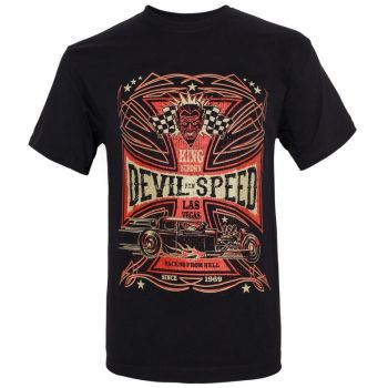 King Kerosin Regular T-Shirt / Devil Speed - black