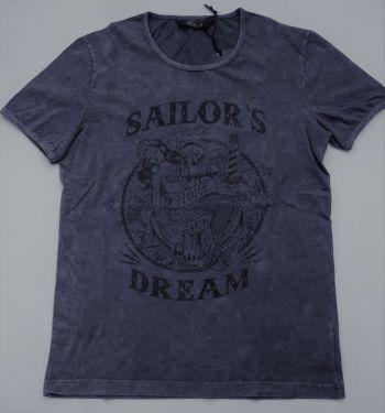King Kerosin Vintage T- Shirt / Sailor`s Dream - Dark Grey