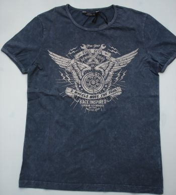 King Kerosin Vintage T- Shirt / Free Soul, 2 Wheels Move the Soul - dark grey