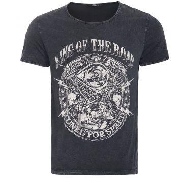 Vintage T-Shirt von King Kerosin - Motor / King of the Road - Schwarz
