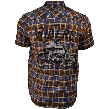 Karo Shirt von King Kerosin - Forever 2 Wheels / brown Karo