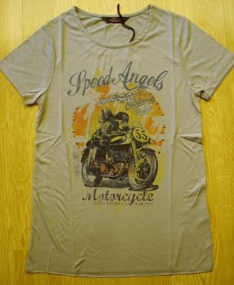 T-Shirt von Queen Kerosin - Speed Angel - Racer Girl / Stone