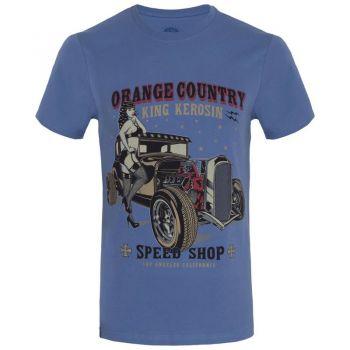 King Kerosin Regular T-Shirt Blau / Orange Country