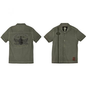 Dragstrip-Shirt Limited Edition von King Kerosin - Ride Fast / Olive