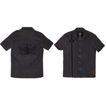 Dragstrip-Shirt Limited Edition von King Kerosin - Ride Fast / Schwarz