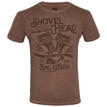 Oilwashed-Shirt von King Kerosin - Shovel Head / Hazel Brown