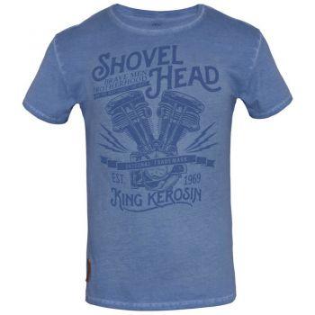Oilwashed-Shirt von King Kerosin - Shovel Head / Blue