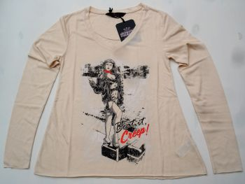 Langarm-Shirt von Queen Kerosin - Cry Baby / Nude