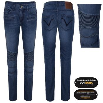 BIKER JEANS FROM Queen KEROSIN - SPEEDSKINNY / SUPER STONE