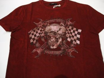 King Kerosin Regular T-Shirt / Racer Edge - Wine red