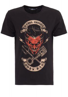 King Kerosin Regular T-Shirt / Devil Inside - Born Bad