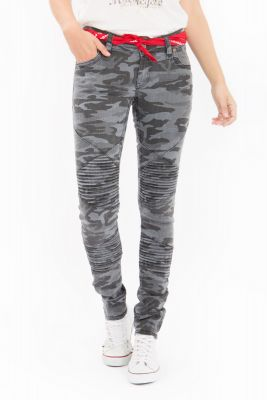 Queen Kerosin Pants - Camouflage / grau