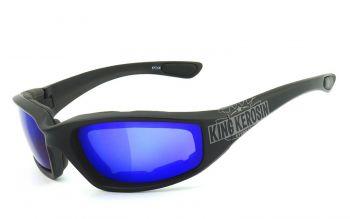 King Kerosin Biker & Motorradbrillen - KK140-abv- Laser Blue / gepostert