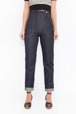 Queen Kerosin Jeans - Red Selvedge / Dark Blue
