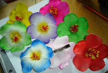 Hairclips - Flower big / different colors