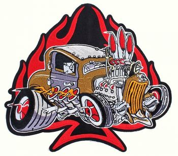 Back-Patch PTKR-Hot Rod / gold