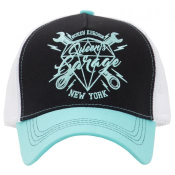 Trucker Cap from Queen Kerosin - Queen`s Garage New York / black-mint