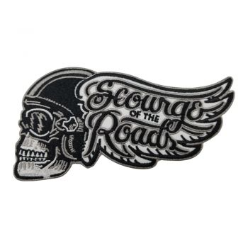 Patch - Bikerskull with Wing