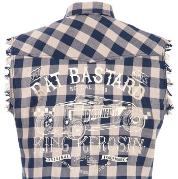 Sleeveless Shirt checkered - Limited Edition / Rat Bastard