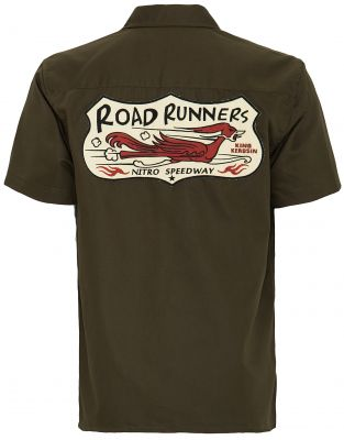 Worker Hemd Limited Edition von King Kerosin - Road Runners / olive