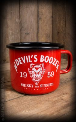 Emaille Tasse / Becher von Rumble59  - Devil`s Booze