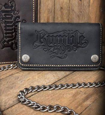 Leder Geldbeutel von Rumble59 - schwarz