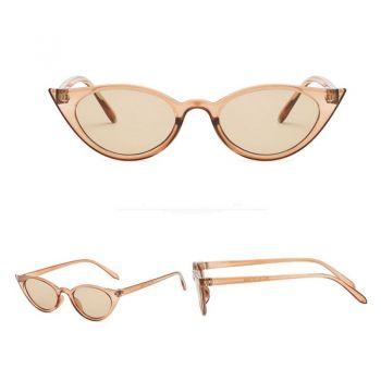 Cateyes Sonnenbrille - Beige transparent