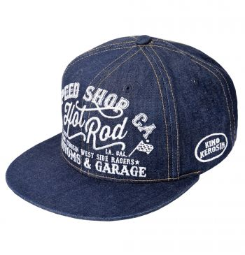 Snapback / Flat Cap von King Kerosin - Speed Shop, Hot Rod / Denim