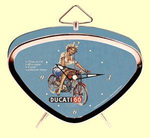 Vintage Wecker  - Ducati 60 / Pinup Girl