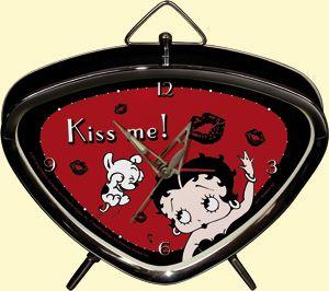 Vintage Blechwecker - Betty Boop Kiss Me!