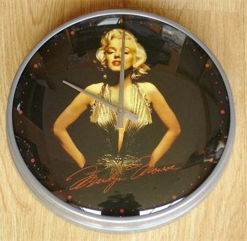 Wanduhr - Marilyn Monroe / Gold