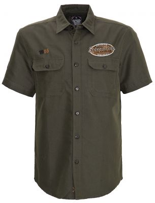 Worker Hemd Limited Edition von King Kerosin - Speed Shop CA. / Olive