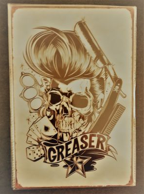 Retro Blechschild  - GREASER