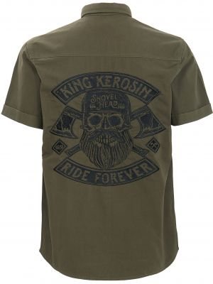 Worker Hemd *Limited Edition* von King Kerosin - Ride Forever / Olive Green