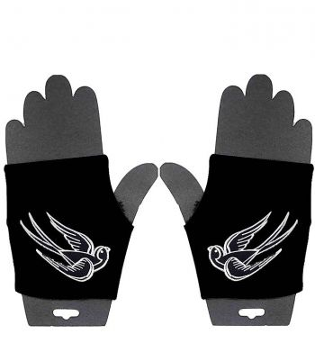 Fingerlose Handschuhe - Schwalben