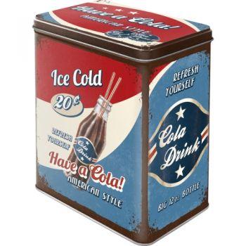 Blech Vorratsdose Large - Have a Cola !