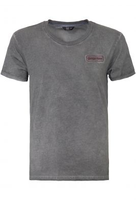 Oilwashed-Shirt von King Kerosin - Speed Shop CA / Anthracite