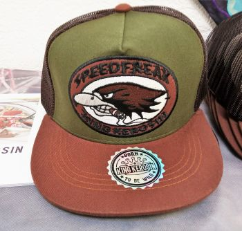Snapback / Flat Cap from King Kerosin - Speedfreak - brown/green