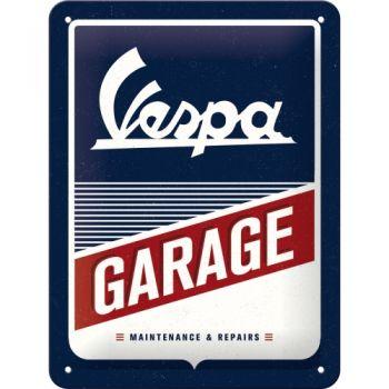 Blechschild klein - Vespa Garage