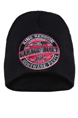 Beanie Strickmütze von King Kerosin - Garage Built / schwarz