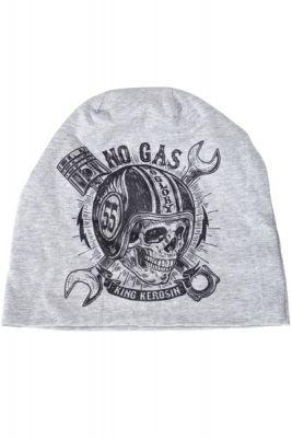 Beanie Stoffmütze von King Kerosin - No Gas / grau