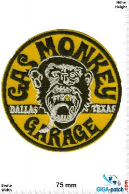 Patch - Gas Monkey Garage / Gelb Rund