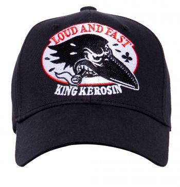 Trucker Cap Flex von King Kerosin - Crow, Loud and Fast / schwarz